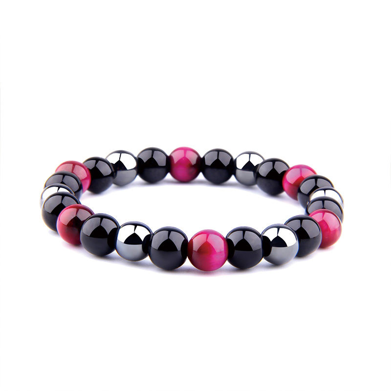 Multi-Stone Colorful Bracelets Beaded Stretch