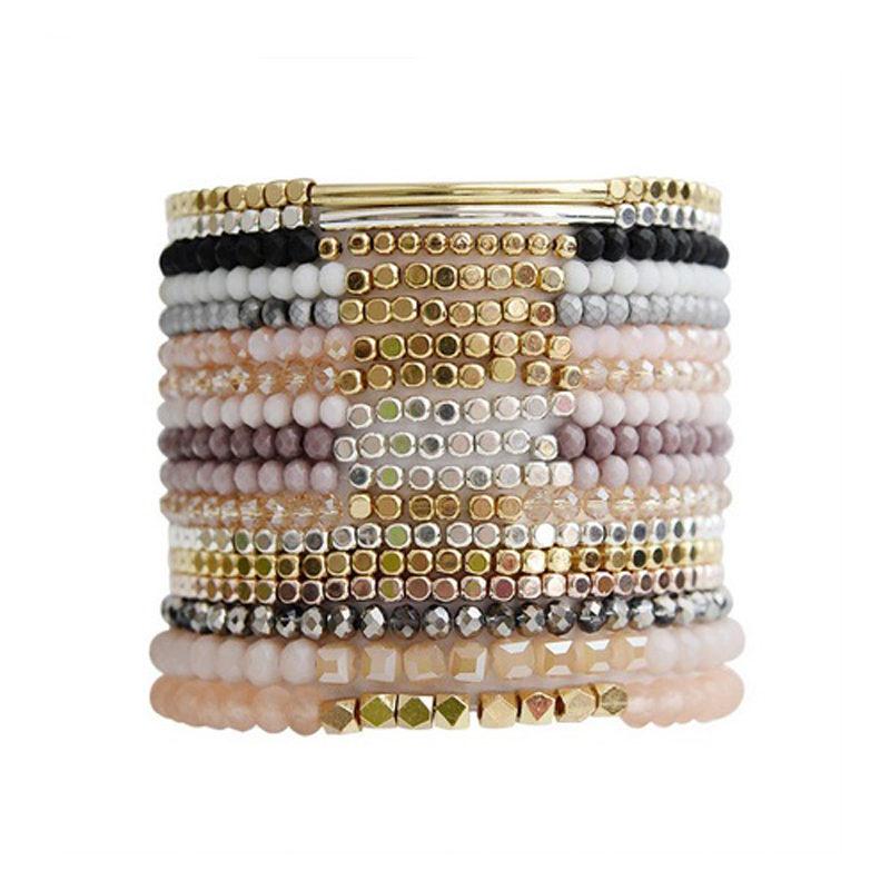 acrylic-copper-hematite-seed-bead-bracelets