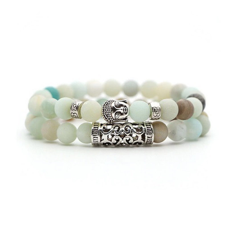 amazonite-bracelet-2pcs-set-buddha-charm-stretch