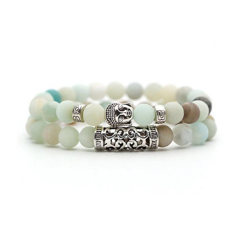 amazonite-bracelet-2pcs-set-buddha-charm-stretch