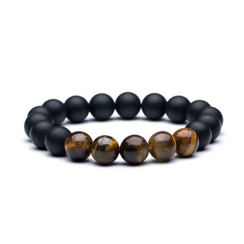 beaded-bracelets-brown-tiger-eye-matte-black-onyx-stretch