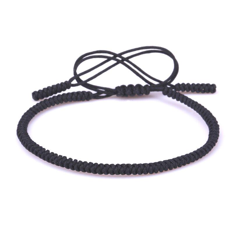 Black Lucky Knot Bracelet Tibetan Handmade