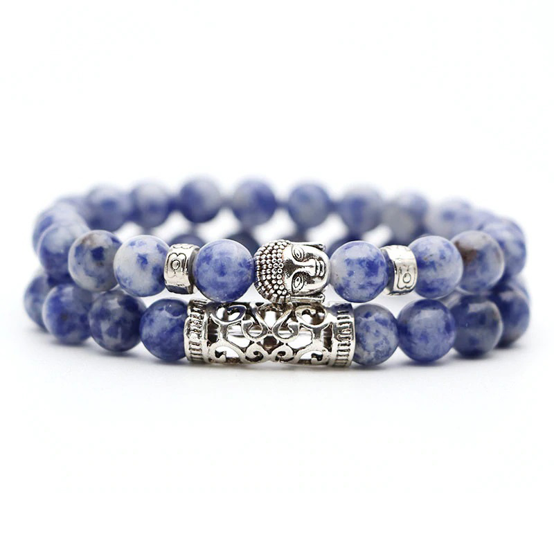 blue-marble-bracelet-2pcs-set-buddha-charm-stretch