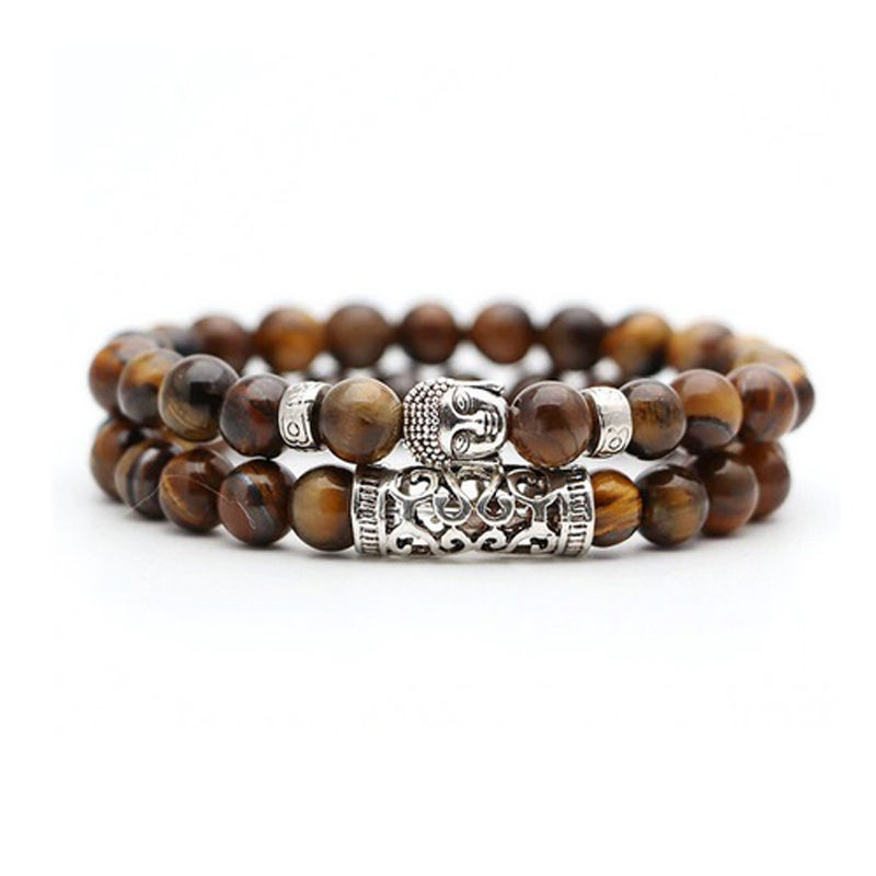 brown-tiger-eye-bracelet-2pcs-set-buddha-charm-stretch