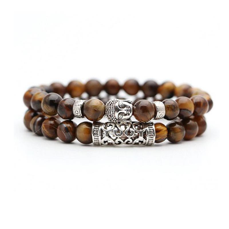 brown-tiger-eye-bracelet-2pcs-set-buddha-charm-stretch