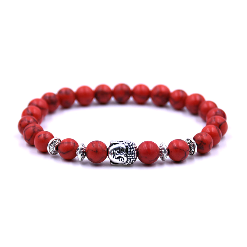buddha-red-turquoise-bracelet-charm-stretch-beaded