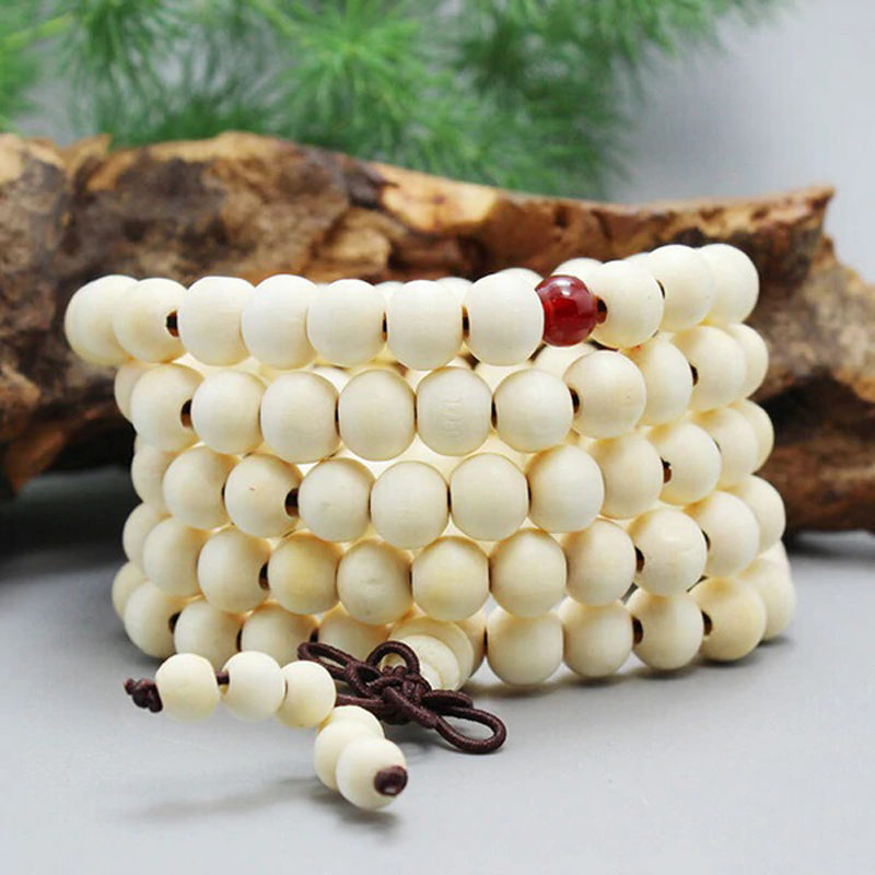 buddhist-sandalwood-wrap-bracelet-garnet-knot-beaded