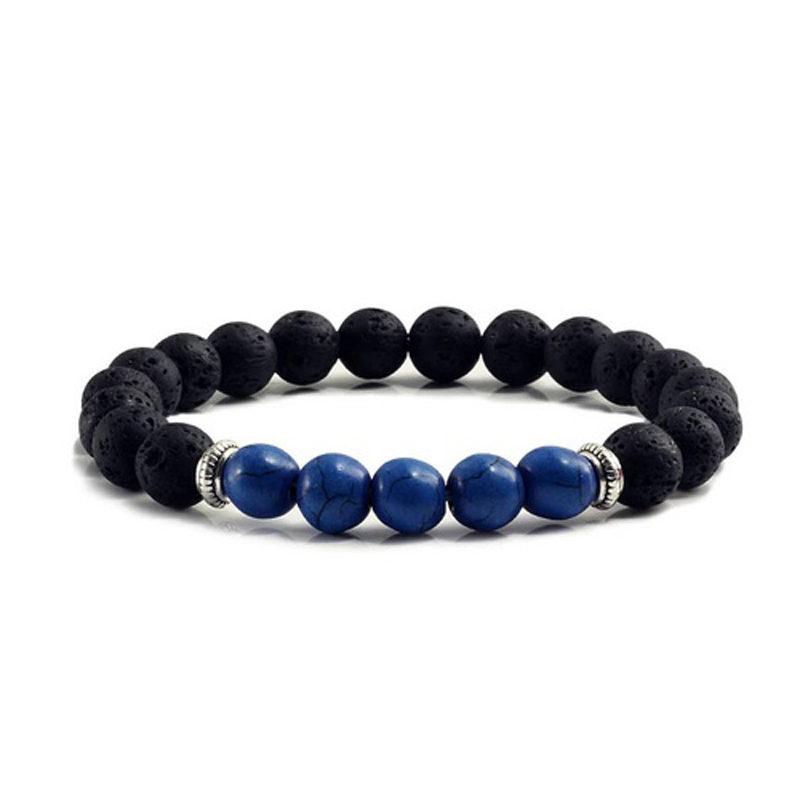 dark-blue-turquoise-chakra-bracelet-volcanic-bead-charm-stretch