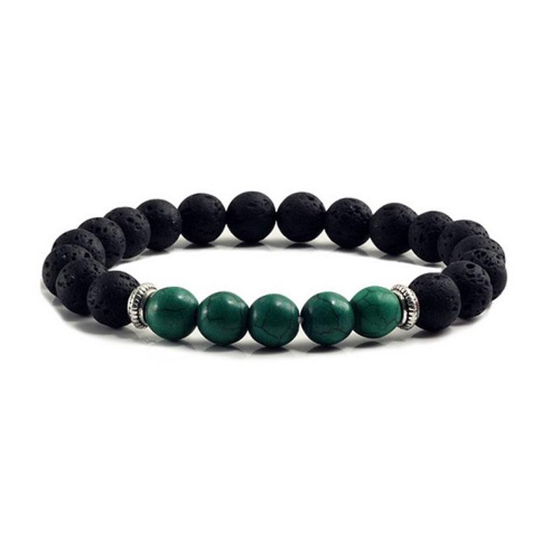 dark-green-turquoise-chakra-bracelet-volcanic-bead-charm-stretch