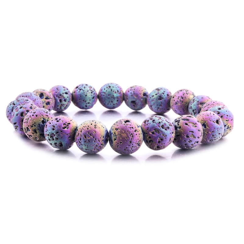 Essential Oil Diffuser Bracelet Aromatherapy Dyed Lava