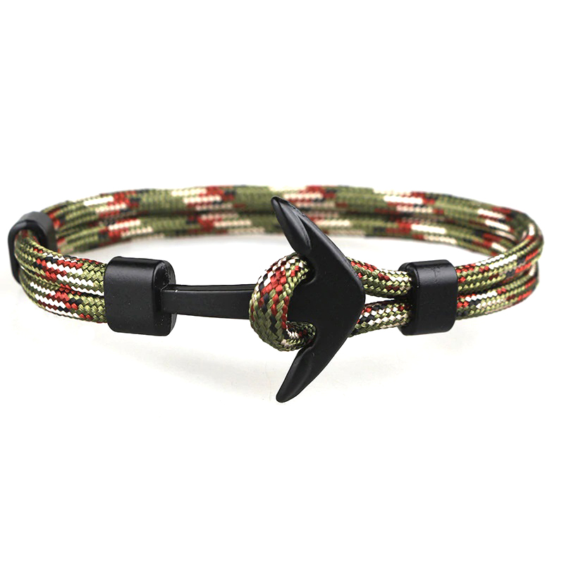 Army Bracelet Doubled Cord Anchor Charm