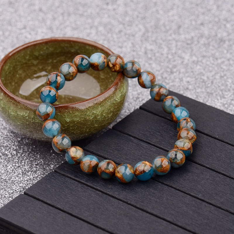 gemstone-beaded-blue-brown-agate-stretch-bracelet