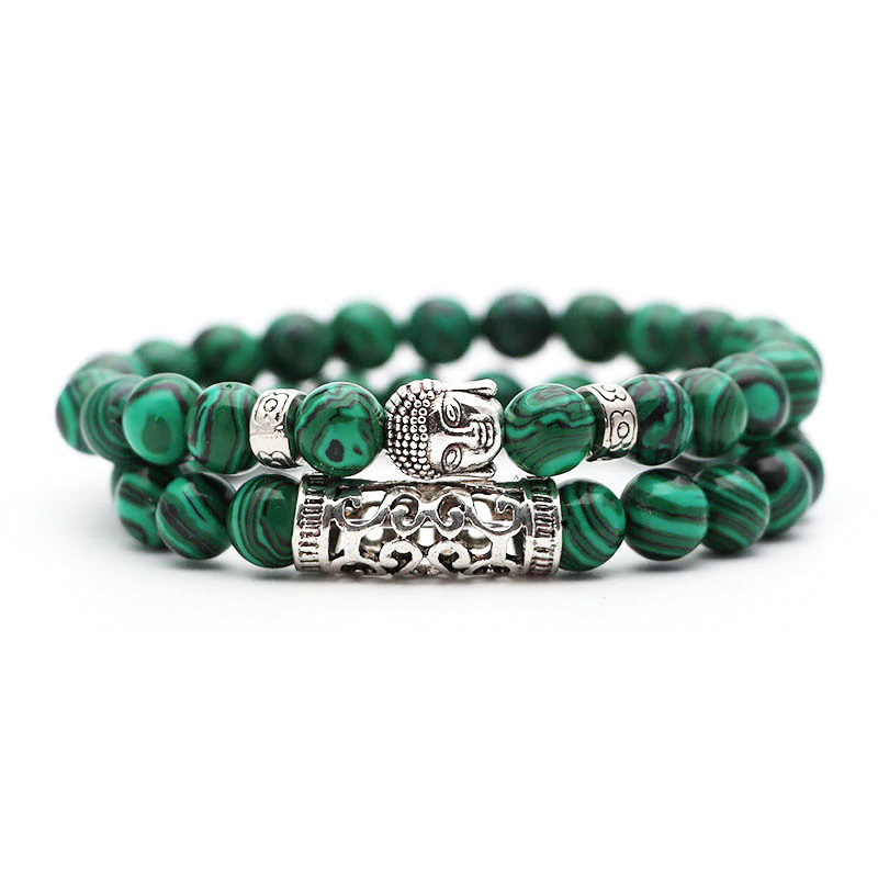 green-malachite-meditation-bracelet-2pcs-set-buddha-charm-stretch