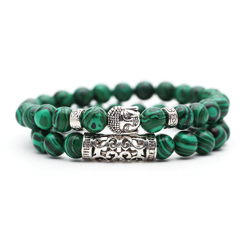 green-malachite-meditation-bracelet-2pcs-set-buddha-charm-stretch