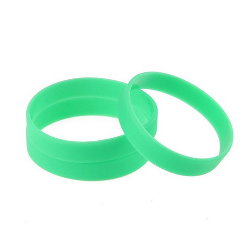 green-silicone-bracelet-flexible