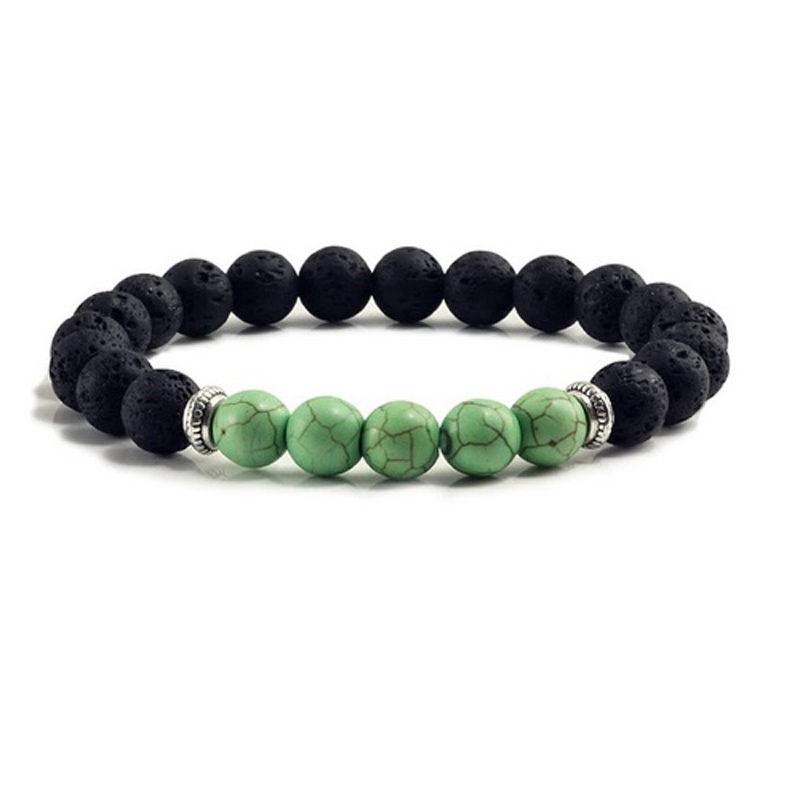 green-turquoise-chakra-bracelet-volcanic-bead-charm-stretch