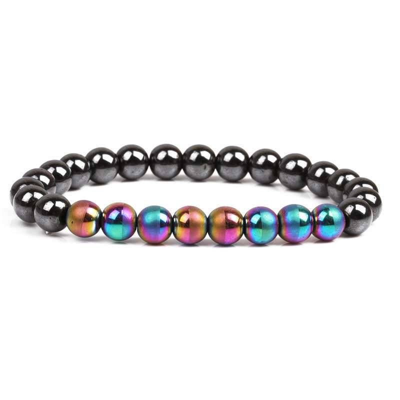 Hematite Beaded Bracelet Weight Loss Stretch