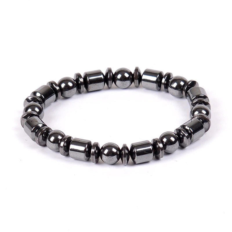 Hematite Stretch Bracelet Therapy Multi-Shape Beads