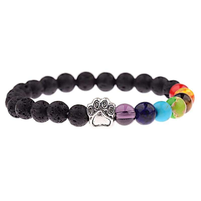 7 Chakra Bracelet Meditation Stretch Beaded