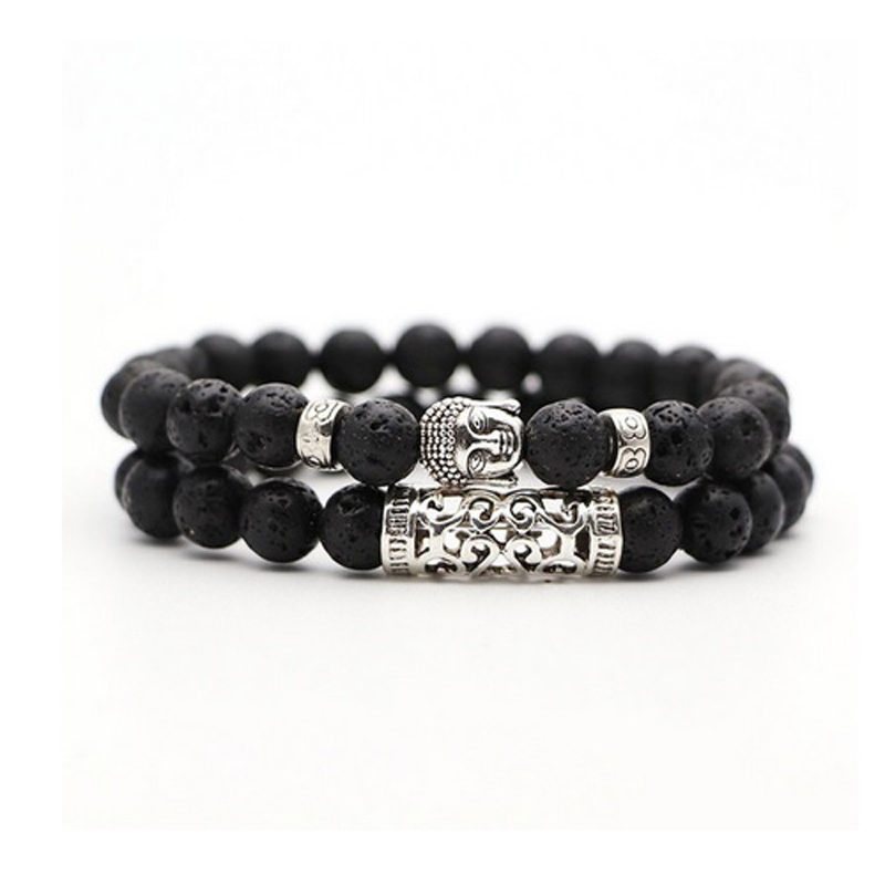 lava-bracelet-2pcs-set-buddha-charm-stretch