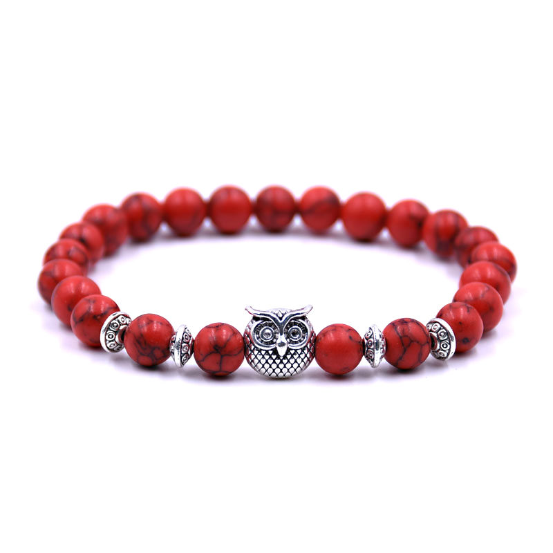 owl-red-turquoise-bracelet-charm-stretch-beaded