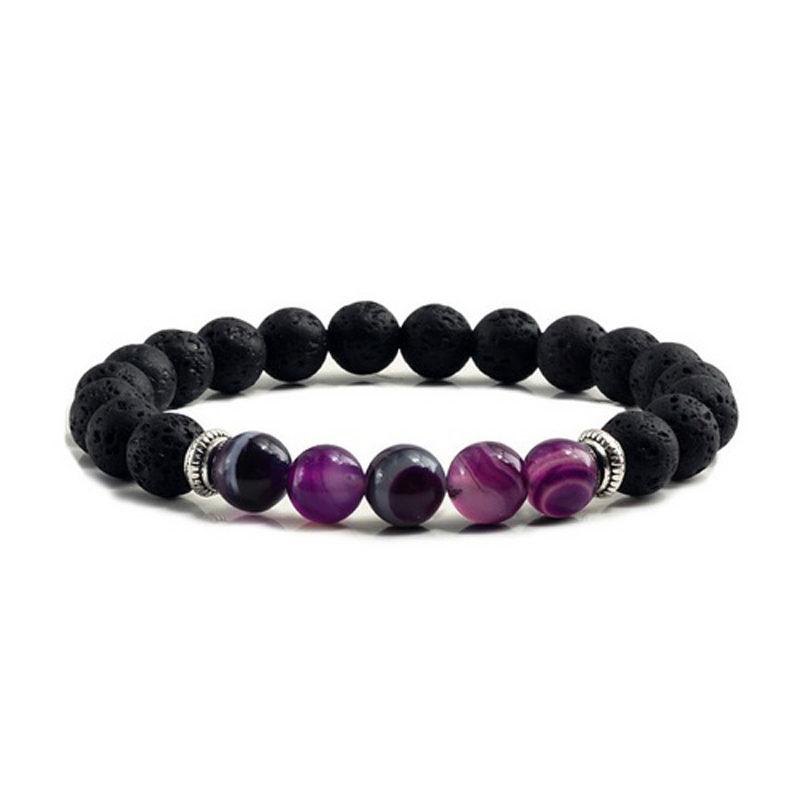 purple-agate-chakra-bracelet-volcanic-bead-charm-stretch