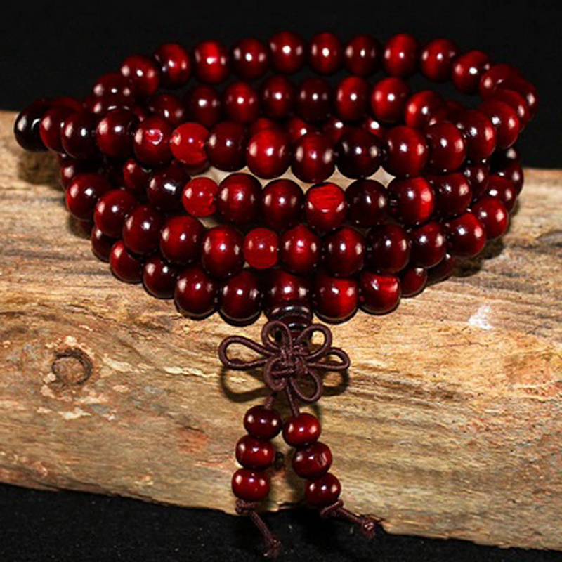 red-sandalwood-wrap-bracelet-garnet-buddhist-knot-beaded