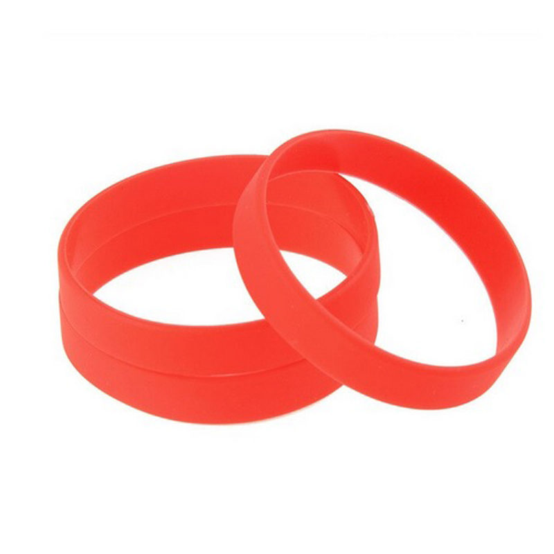 red-silicone-bracelet-flexible