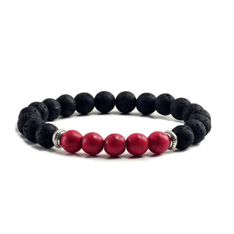 red-turquoise-chakra-bracelet-volcanic-bead-charm-stretch