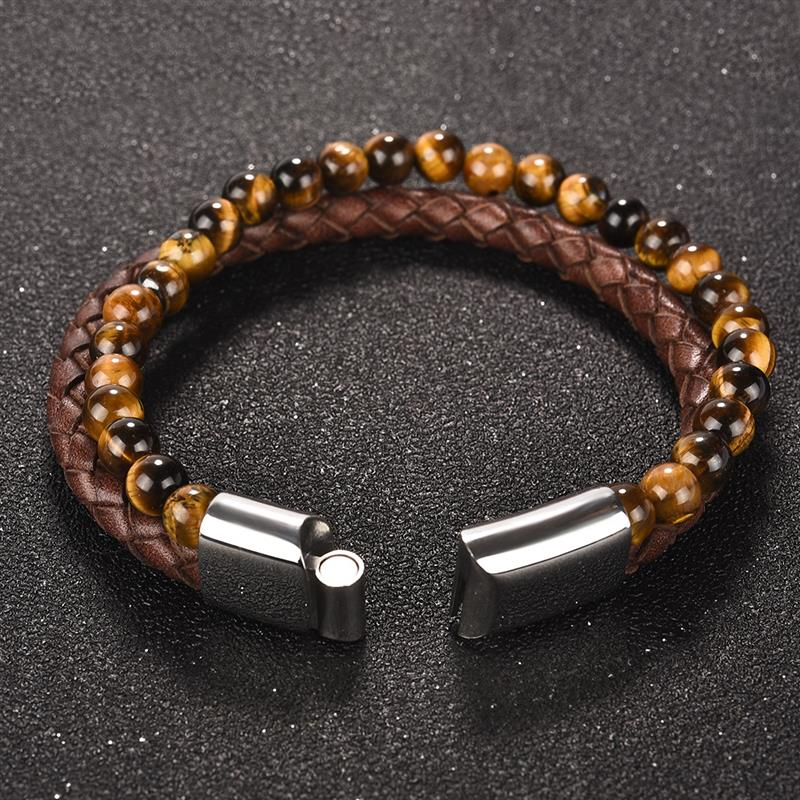 tiger-eye-magnetic-clasp-leather-bracelet-beaded-layered