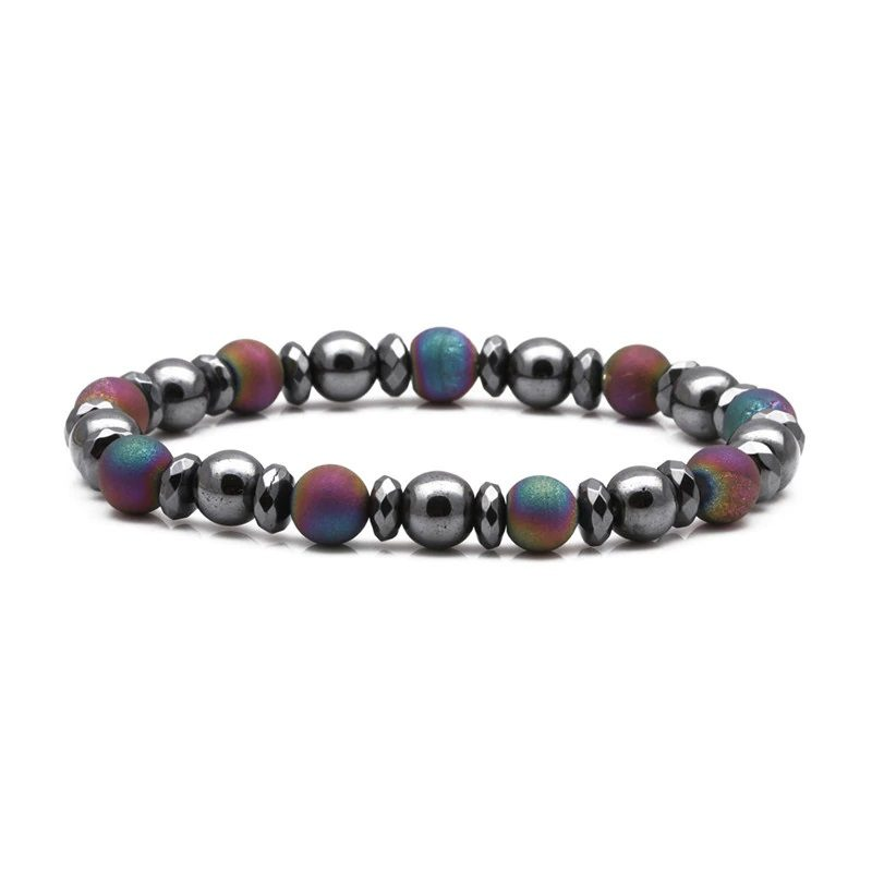 Weight Loss Hematite Bracelet Beaded Stretch