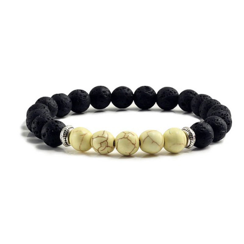 yellow-turquoise-chakra-bracelet-volcanic-bead-charm-stretch