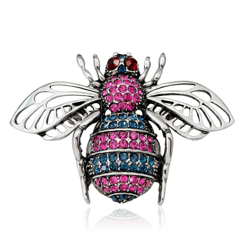 Fly Brooch Multi-Color Cubic Zirconia