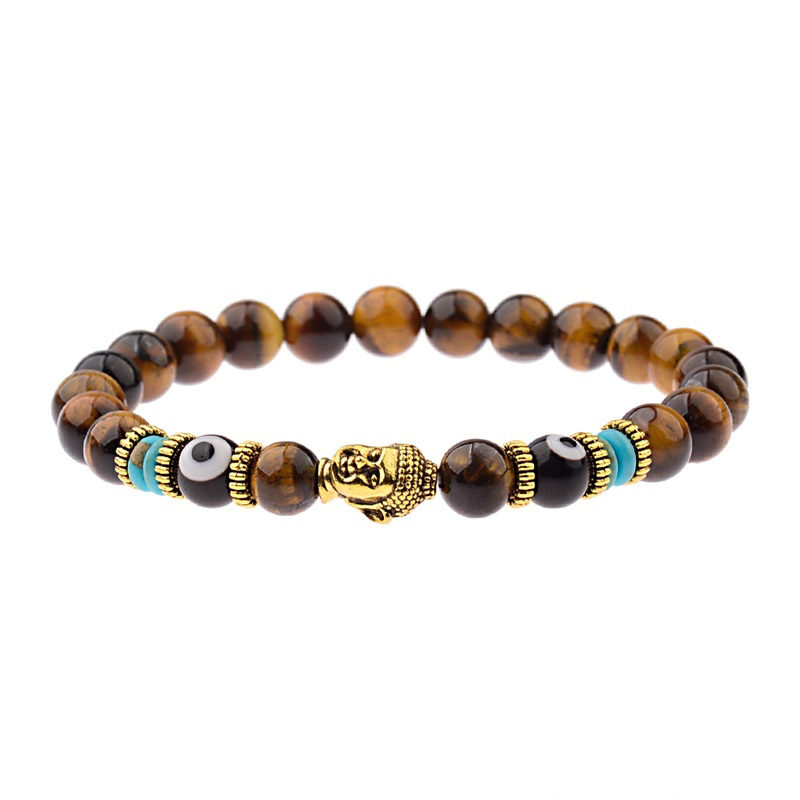 brown-tiger-eye-onyx-evil-eye-buddha-bracelet-charm-beaded-stretch-shakra