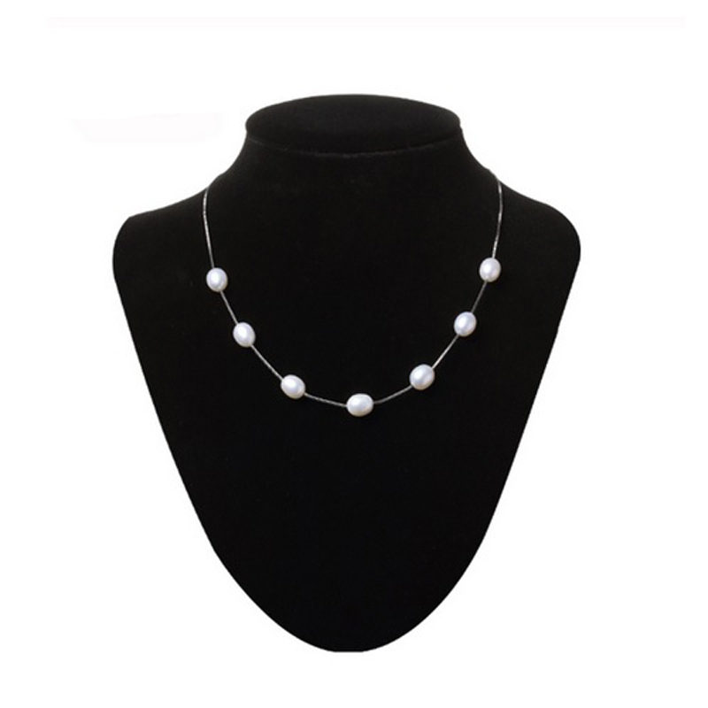 Freshwater Pearl Necklace 925 Sterling Silver