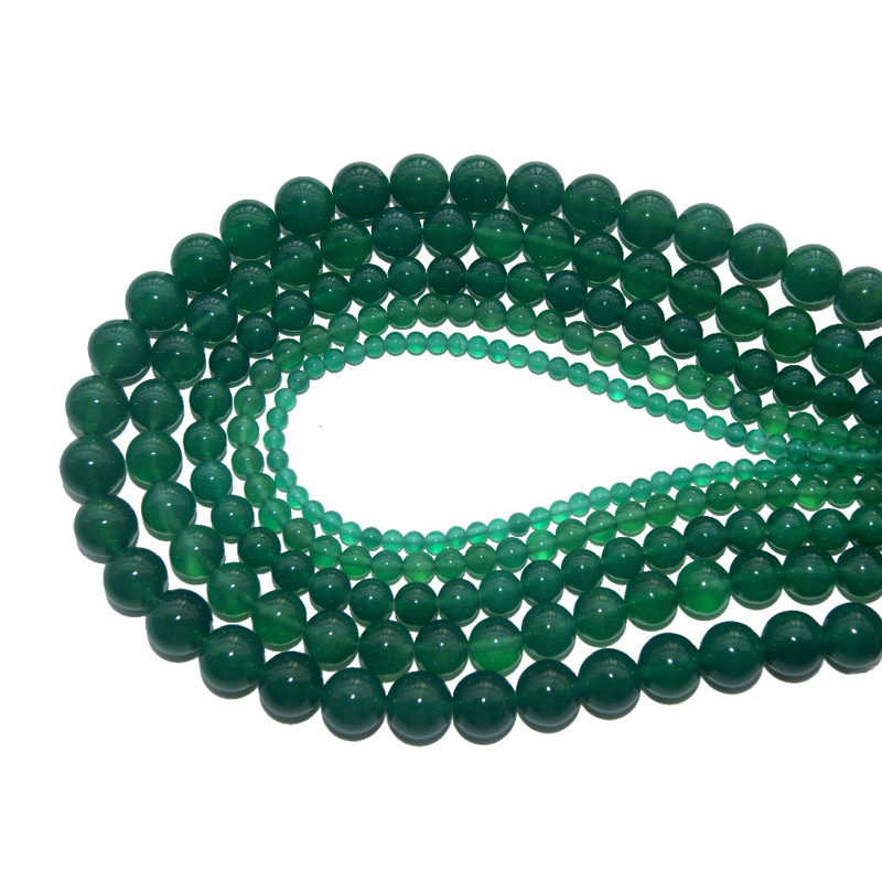 Green Agate Beads Jewelry Making Gemstones