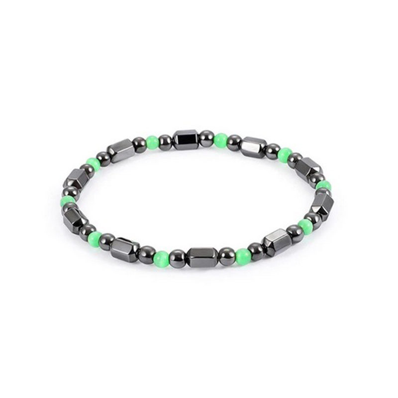 Hematite Magnetic Bracelet Stretch Beaded