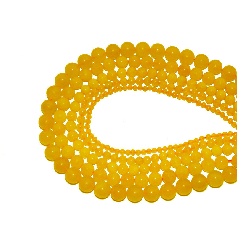 Yellow Agate Beads Natural Stones Jewelry Making