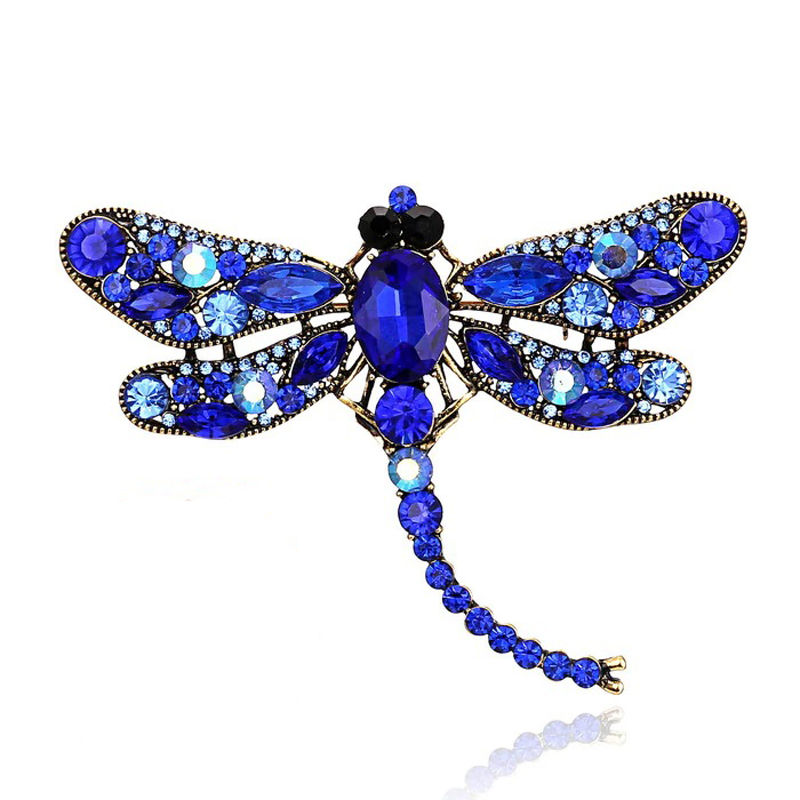 Vintage Dragonfly Brooch - Pendant Necklace Pin