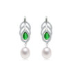 Freshwater Pearl Drop Earrings CZ 925 Sterling Silver