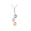 Freshwater Pearl Necklace Multi-Color 925 Sterling Silver
