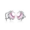 Pearl Luster Stud Earrings CZ 925 Sterling Silver