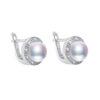 Vintage Stud Earrings Freshwater Pearl 925 Sterling Silver