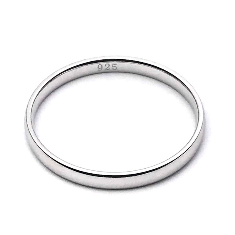 Wedding Band Ring 925 Sterling Silver