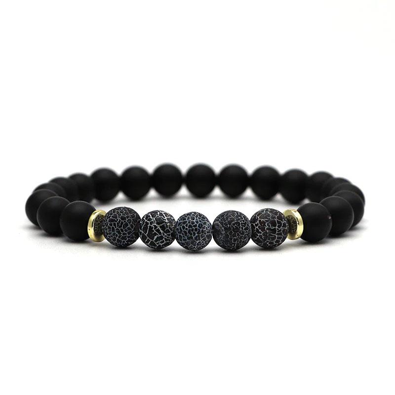 beaded-charm-stretch-bracelets-natural-multi-stones-matte-black-onyx-matte-frost-crab-blue-agate
