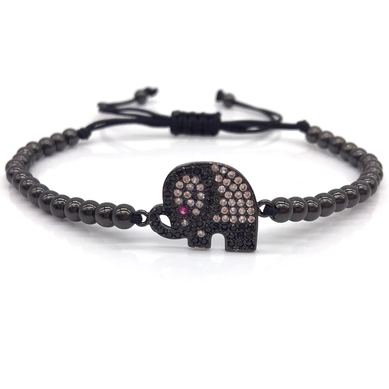 elephant-bracelet-charm-beaded-macrame-sliding-knot-cz-black