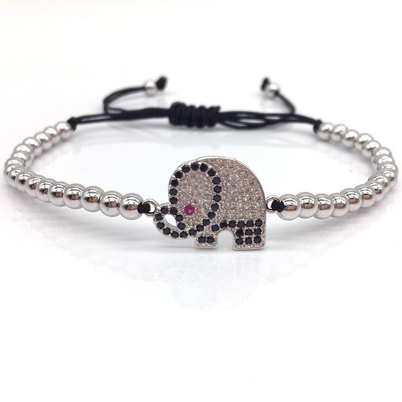 elephant-bracelet-charm-beaded-macrame-sliding-knot-cz-silver