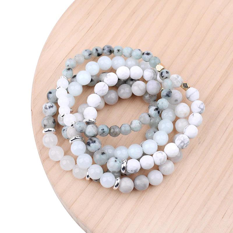 quartz-agate-howlite-beads-bracelets-charm-stretch