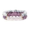 Quartz Beaded Bracelets Charm Stretch