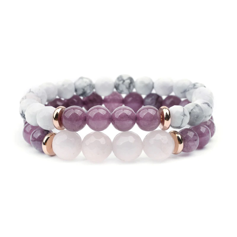 Quartz Beaded Bracelets Charm Stretch